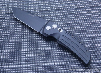 "Складной автоматический нож Hogue EX-01 3.5"" Tanto Auto, Black Blade, Black Aluminum Handle"
