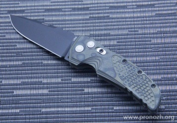 Складной автоматический нож Hogue EX-01 3.5 Drop Point Auto,  Black Blade, Green / Black G-Mascus G10 Handle