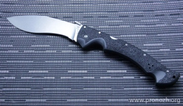 Складной нож COLD STEEL Rajah II, Stonewashed Blade, AUS-10A Steel, Black Grivory  Handle