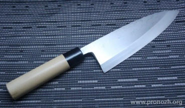 Кухонный нож KANETSUNE Deba 210mm, Magnolia Handle