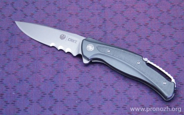Складной нож Ruger Knives Windage (IKBS Flipper), Stonewashed Blade, Combo Edge, Gray Aluminum Handle