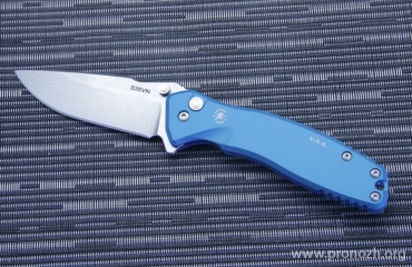 Складной нож Spartan Blades Pallas Drop Point Flipper, Blue Aluminum Handles, Stonewashed Blade