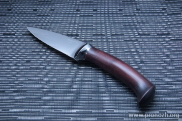 Фиксированный нож Fantoni Triglav, Red Wood Handle, Brown Leather Sheath