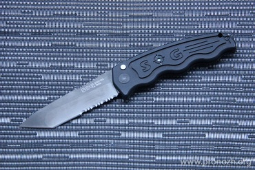 Складной автоматический нож SOG SOG-TAC, Black TiNi Blade, Aus-8 Steel, Black Hard-anodized Aluminum Handle
